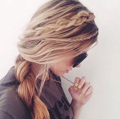 cute • braid • hairdo • hair • style • fashion • teenage • teen • blond • summer • hairstyle
