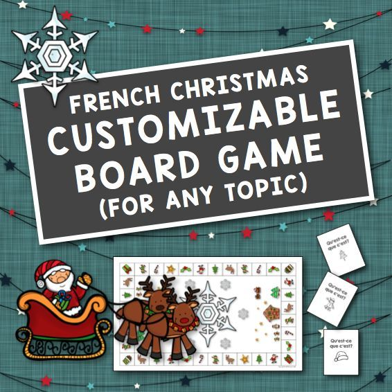 French Christmas Customizable Board Game for Any Topic
