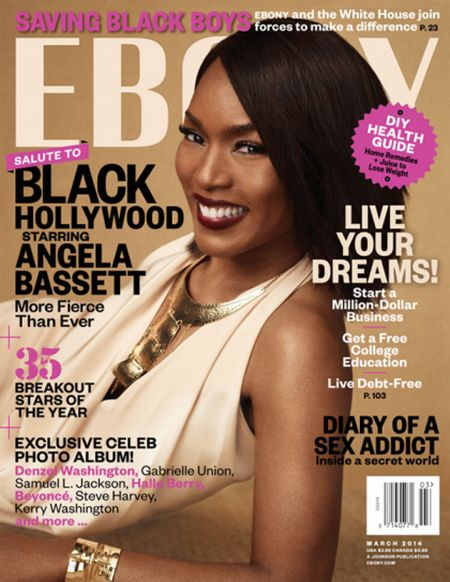 Angela Bassett's Covers EBONY Magazine