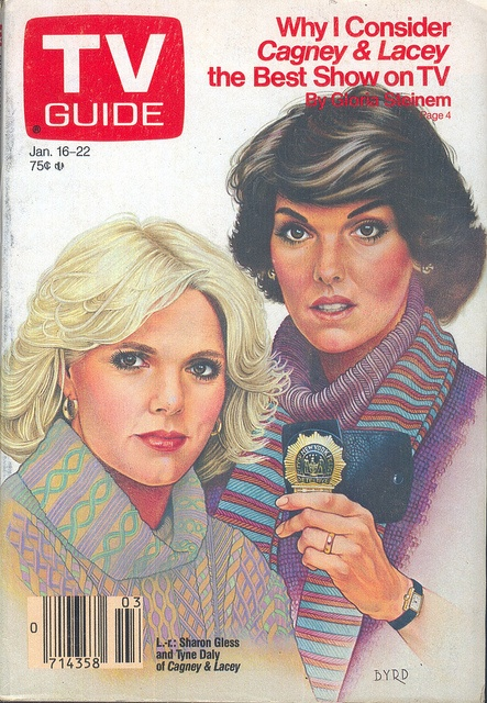 Cagney and Lacey on the cover of TV Guide - January 16, 1988