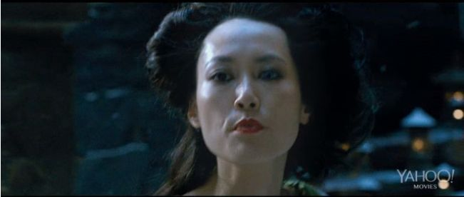"""She plays a woman who literally IS a dragon lady in """"47 Ronin,"""" featuring Keanu Reeves in a mythical Japan. Deadline has the latest trailer for the film, which debuts Christmas Day.    Watch it here: http://www.deadline.com/2013/10/47-ronin-trailer-keanu-reeves-universal/"""