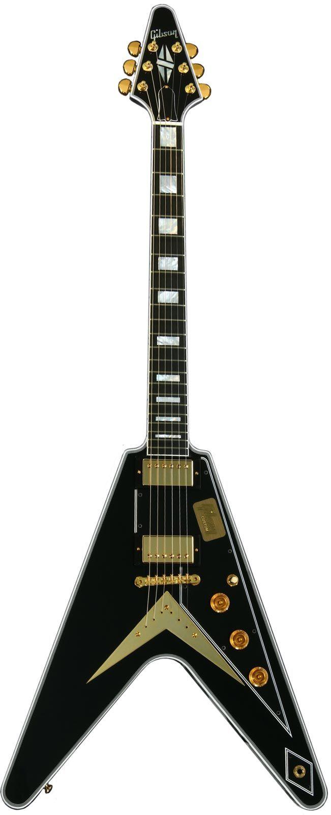 Gibson Custom Shop Flying V Ebony   Keymusic
