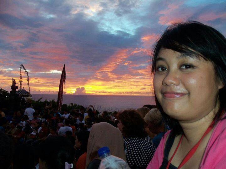 Great sunset at Uluwatu, Bali, INDONESIA