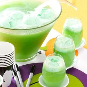 Lemon Lime Punch Recipe from Taste of Home  #St._Patricks