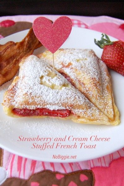 Strawberry and Cream Cheese Stuffed French Toast by No Biggie