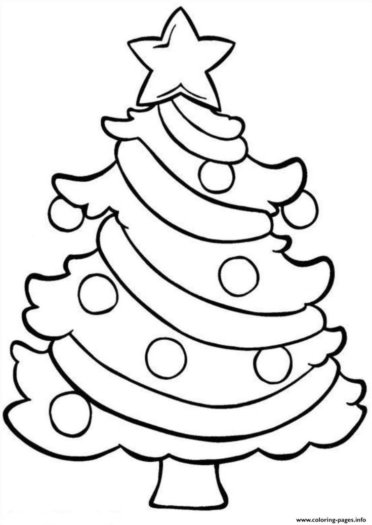 Print Coloring Pages Christmas Tree Easy E1449689938358f6df