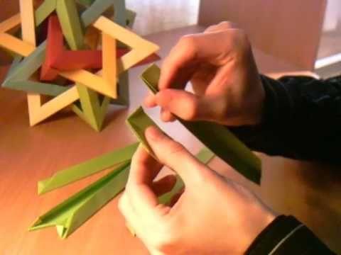 DIY: tetrahydra modular origami tutorial video