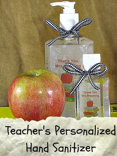 Teacher's Gift Hand SanitizerTeachers Hands Sanity, Personalized Hands, Teacher Gifts, Teachers Gift, Hands Sanitizer, Diy Teachers, Practice Gift, Personalized Gift, Gift Hands