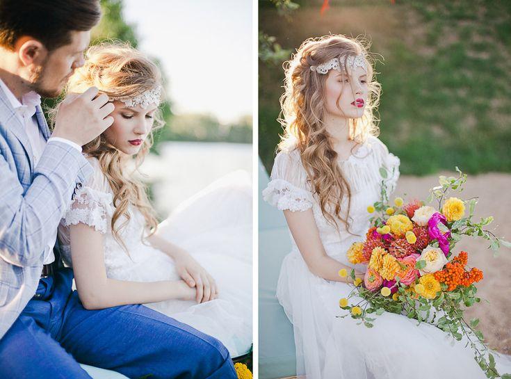 Свадьба в стиле Boho chic. Design studio - NNdecor, Photo - Yana Yartseva, Muah - Sveta Mart