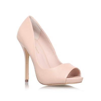 KG Kurt Geiger Nude 'DREAMIE' High heeled peep toe court shoe- at Debenhams.com
