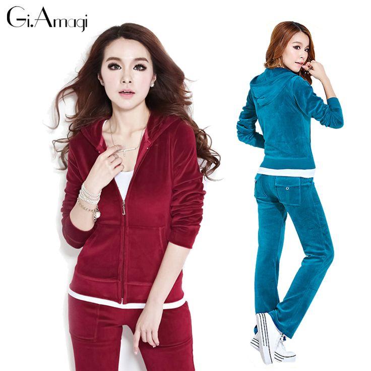 Plus Size Tracksuit Set Women,2017 New Arrival Fashion Suit brand Top Jacket +Pants women sportswear suit set #GRJ005