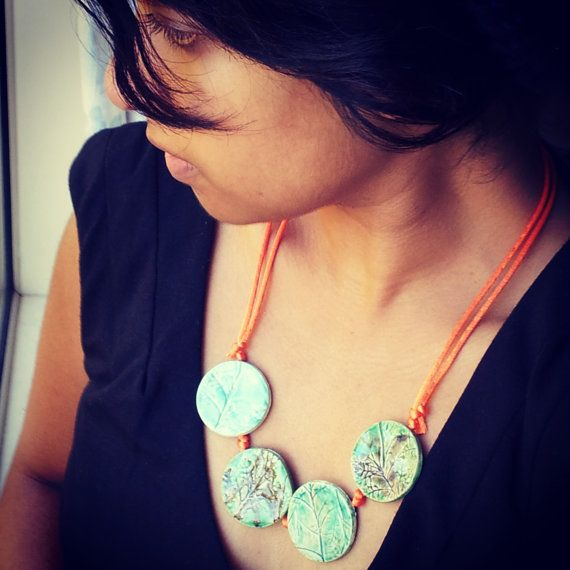 Necklace Splash on Colour and Nature by SaSuDesigns on Etsy, $65.00