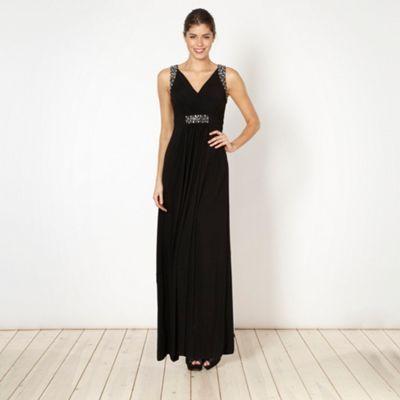 Debut Black embellished jersey maxi dress- at Debenhams.com