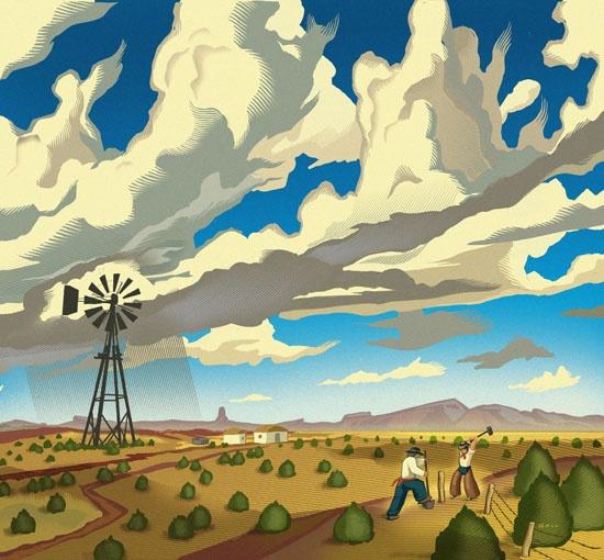 Chris Gall - windmill rain