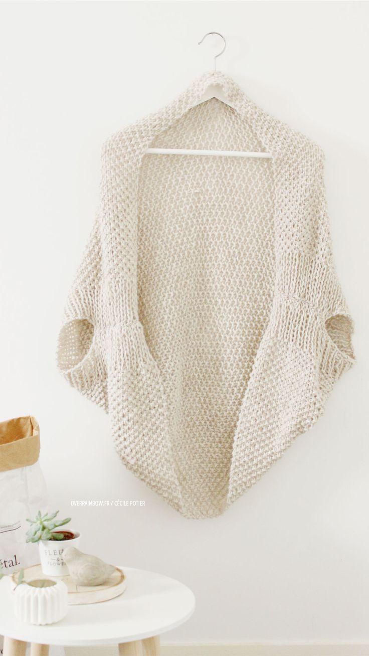 Un gilet tout doux tricoté par Manue (maviedebricolo)