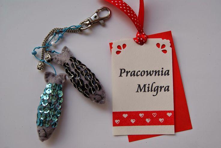 Pracownia Milgra: Zawieszka - breloczek - ryby