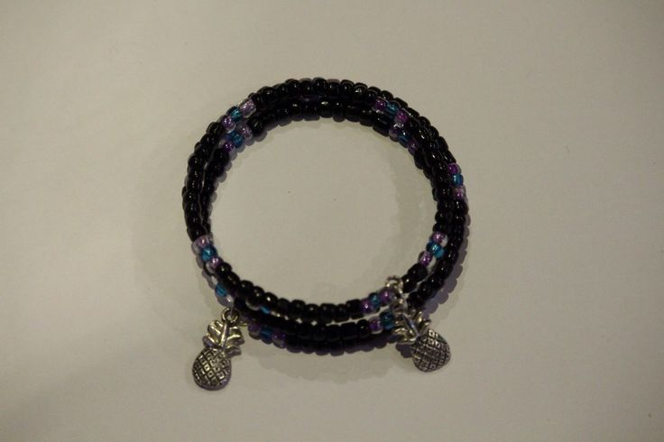 A personal favourite from my Etsy shop https://www.etsy.com/au/listing/254461151/pineapple-bracelet-with-black-blue-and