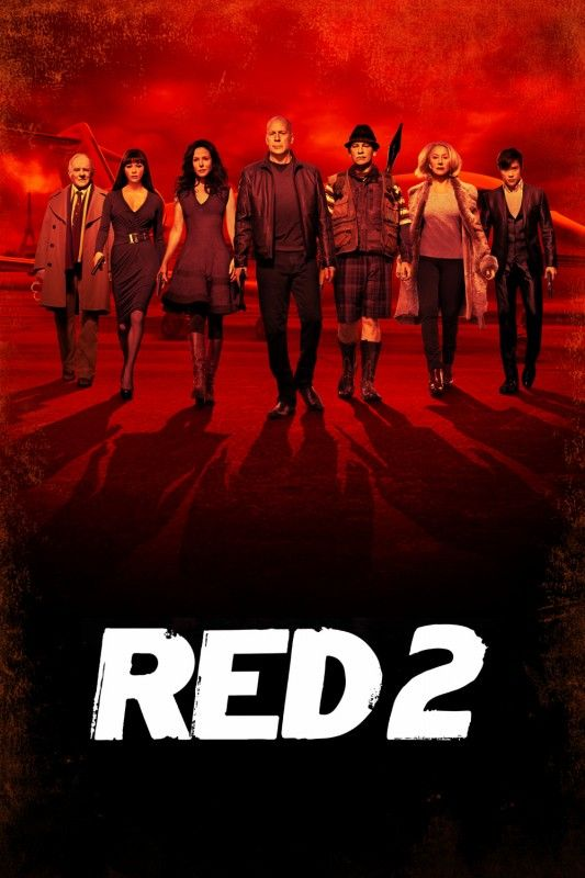 Red 2 (2013) Ex-CIA agent Frank Moses and his crew return for another high-stakes mission ~ Bruce Willis, Helen Mirren, John Malkovich.