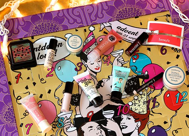 Benefit-Countdown-to-Love-Advent-Calendar-first-two-rows