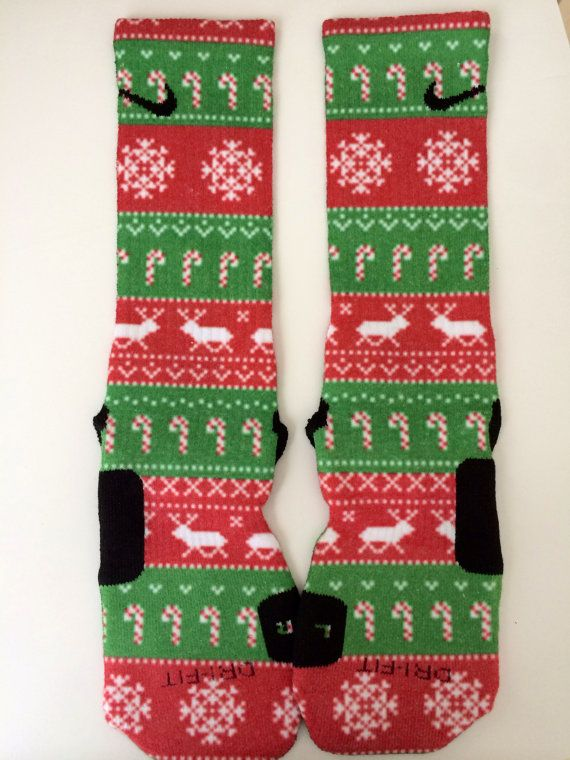 Ugly Christmas Nike Elite socks | definitely getting these for next Christmas
