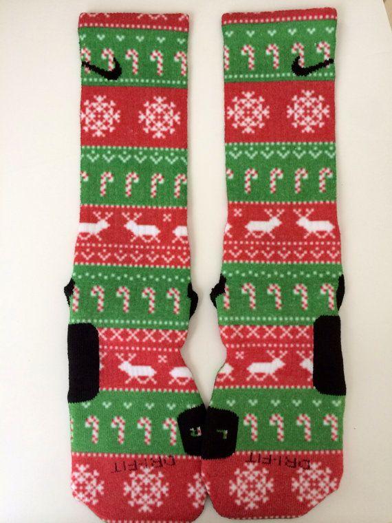 Ugly Christmas Nike Elite socks   definitely getting these for next Christmas