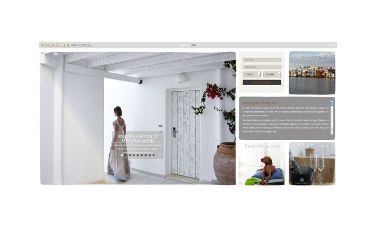 Rocabella Mykonos website at http://www.rocabella-hotel-mykonos.com/ by F-Design!