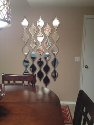 Silver Teardrop Panel Mirror