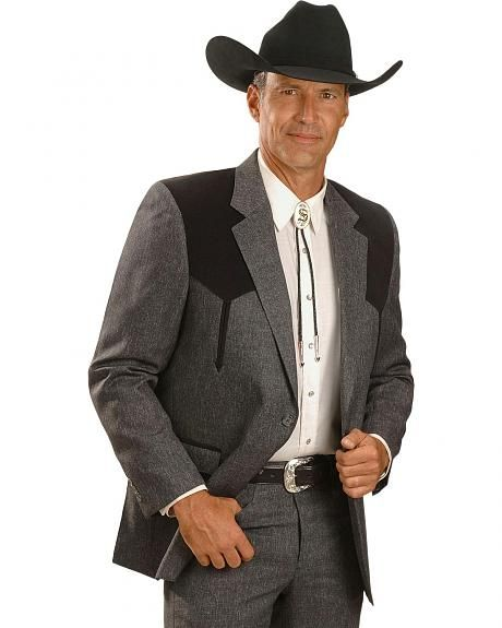 Circle S Boise Western Suit Coat - Short, Reg, Tall.  $129