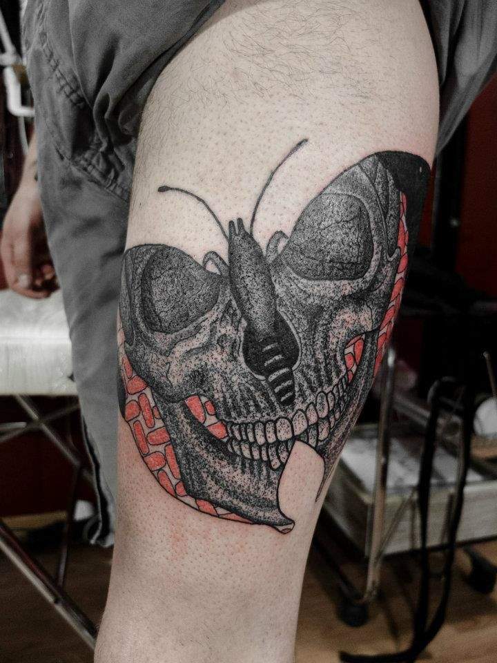 Tattoo by Kostya Makyha from Bone House in Kyiv, Ukraine