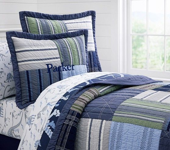 Parker Quilted Bedding | Pottery Barn Kids - 2 twin comforters - Ben's room