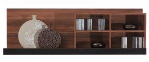 MS18 MAKS BOGFRAN shelf. Execution: high quality laminated chipboard. Colour: havana / black. Furniture for self-assemblage. User-friendly installation guide. Polish Bogfran Modern Furniture Store in London, United Kingdom #furniture #polish #bogfran #shelves #panels
