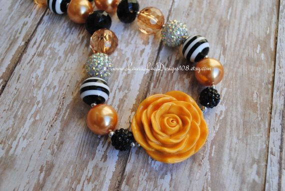 Fall Inspired Chunky Toddler Necklace Photo by LauraLeeDesigns108, $17.99