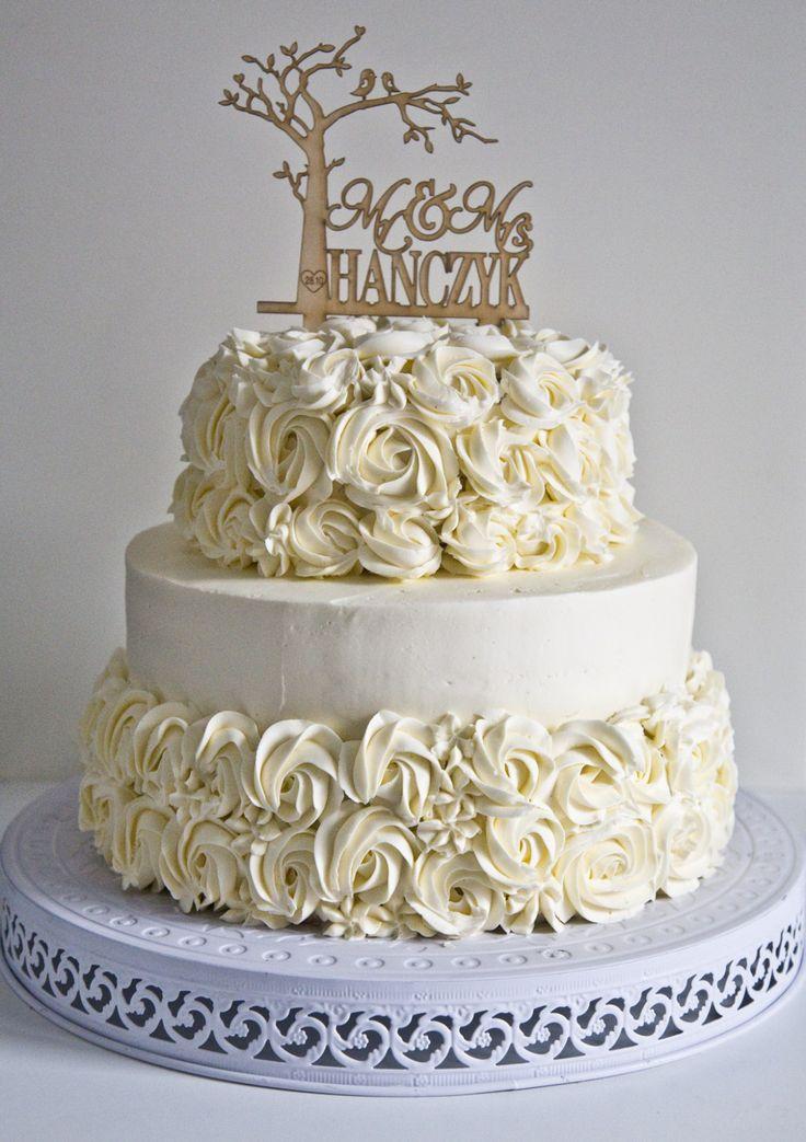 Buttercreme Rosette Wedding Cake