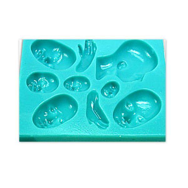Formy na Fimo Penni Jo / Tváře, tvářičky | Formy | POMŮCKY (strojky, vykrajovátka, textury, nástroje atd.) | eShop | Polymerová hmota, kurzy fimo, eshop – Nemravka