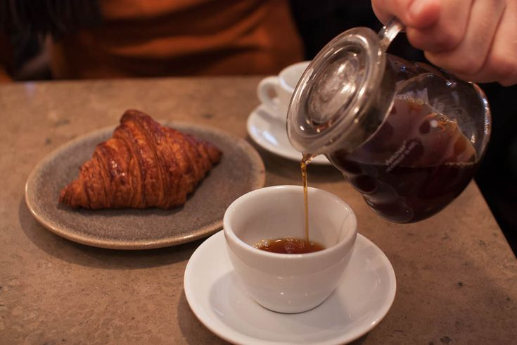 Coffee and croissant. Makes any Sunday better