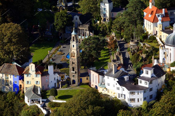 portmeirion wales pictures | Portmeirion, Wales as a Pop-Up Tarot Spread