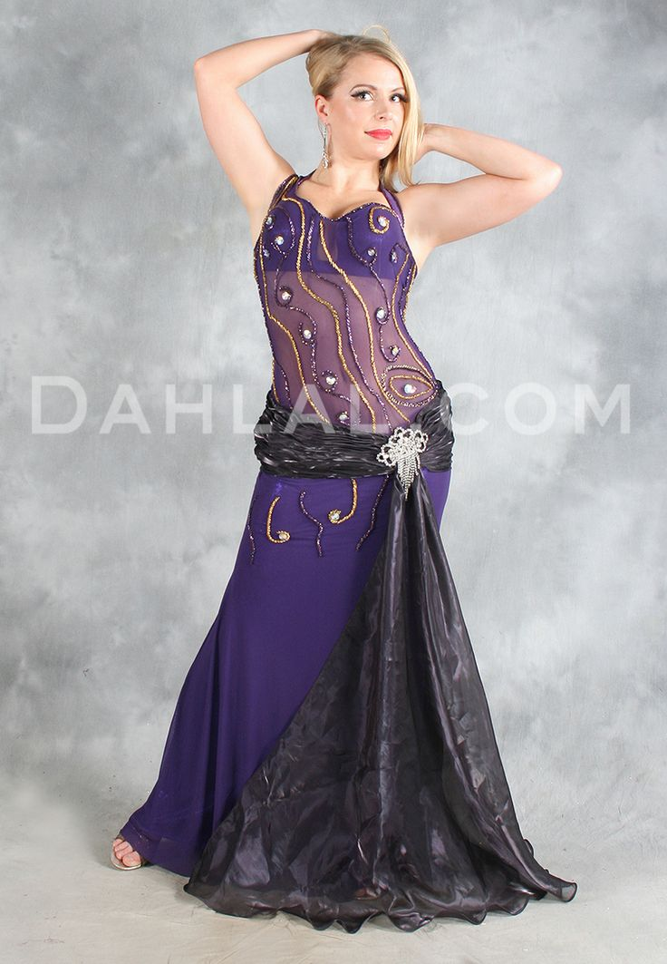NILE GODDESS in Purple, Black and Gold by Designer Eman ...