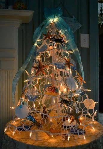coastal christmas trees beach christmas trees reader submissions, seasonal holiday d cor, Crab Pot Christmas tree by Melissa of Fisherman Creations