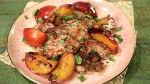 Peach and Sriracha Chicken Over Coconut Rice Recipe | The Chew - ABC.com
