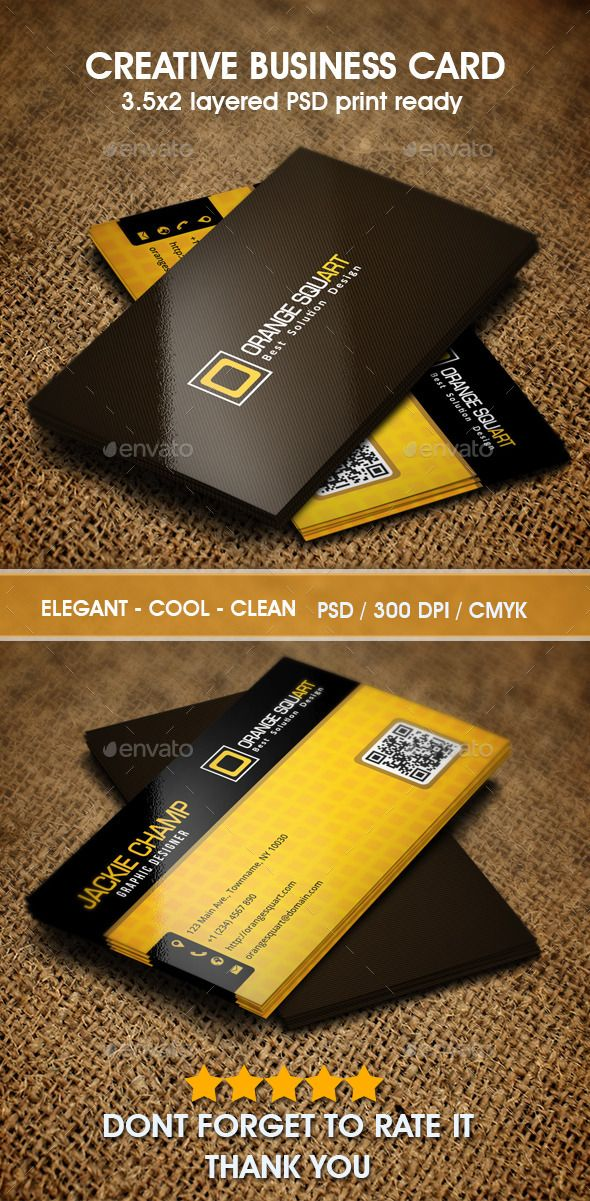 creative business card | download : http://graphicriver.net/item/orange-squart-business-card/9846620?s_phrase=&s_rank=6