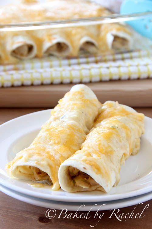 Leftover Turkey Enchiladas – bakedbyrachel.com, adapted from Pioneer Woman.  Use corn tortillas instead of flour.