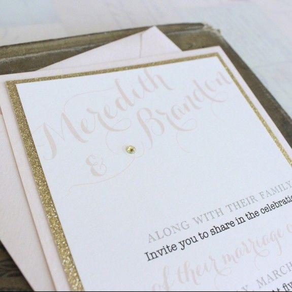 999 best serendipity beyond design blogs images on pinterest elegant blush wedding invitation gold glitter by beyonddesign stopboris Images