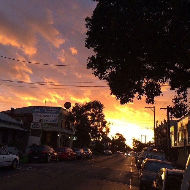 """Sunset in Brunswick"""