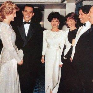 Princess Diana, Joan Collins and Charlotte Rampling.