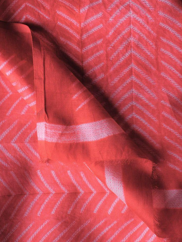 Paisley Shibori Maheshwari Kurta Fabric #handloom