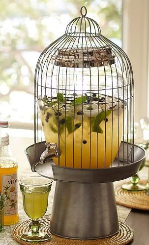 Beautiful birdcage beverage dispenser http://rstyle.me/n/ec3ufnyg6