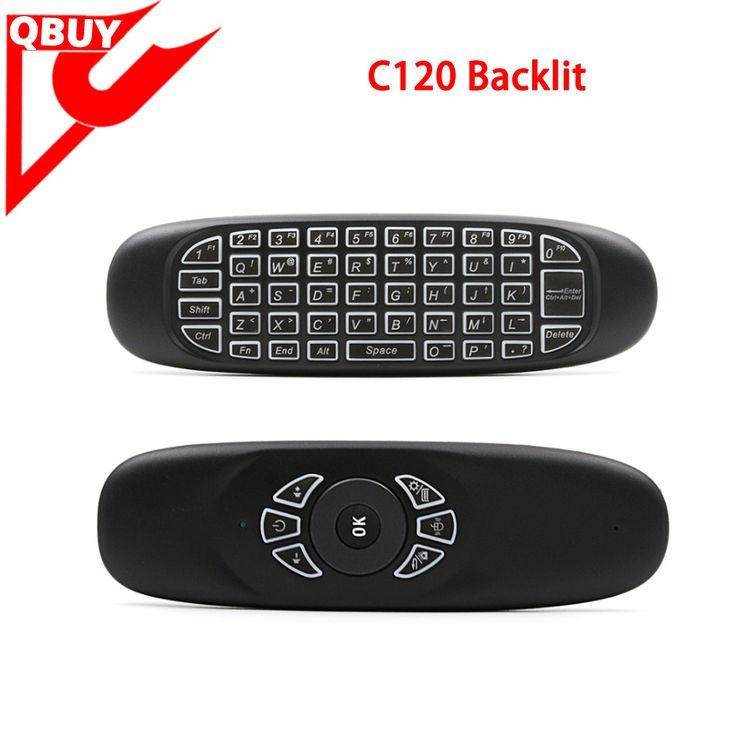 mini keyboard C120 2.4g universal remote control with fly mouse Keyboard c120 backlit www.qbuytech.en.alibaba.com