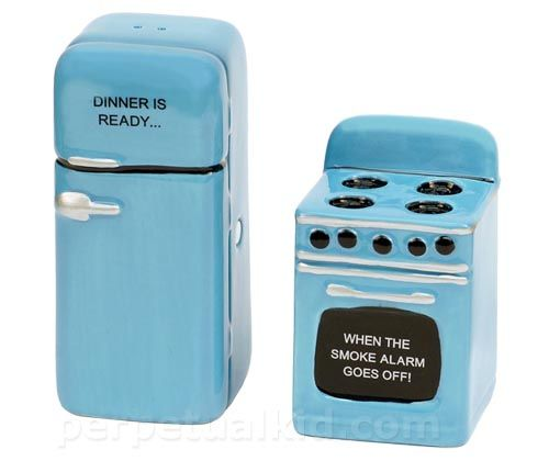 Retro Kitchen Salt and Pepper Shakers
