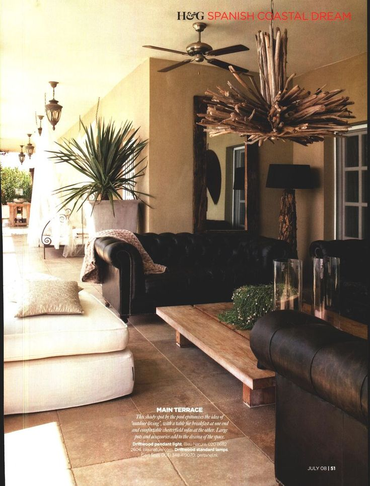 Yvonne Van Opdorp Brings Natural Elements Together In Her Spanish Home Living RoomsSpanish