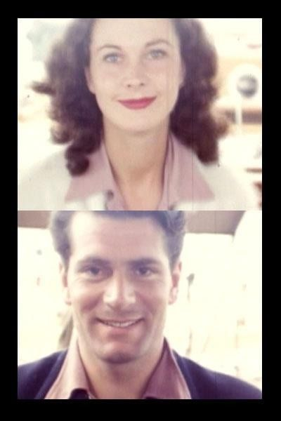 Vivien Leigh and Lawrence Olivier. My note: They were so breathtakingly beautiful. I love this picture of her especially - she looks so guileless and serene. I hope that's how she felt.